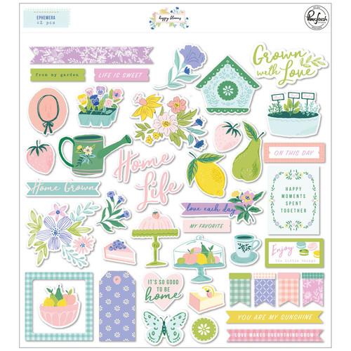 Pinkfresh Studio Happy Blooms Ephemera Pack
