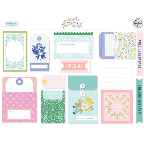 Pinkfresh Studio Happy Blooms Journaling Bits