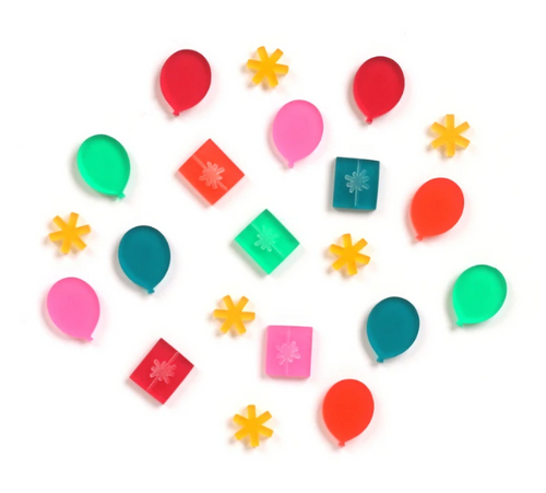 Elle's Studio Acrylic Shapes: Balloons & Presents