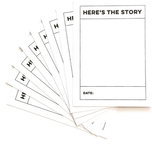 Elle's Studio 3x4 Journaling Tags: Here's The Story