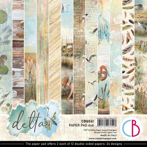 Ciao Bella Papercrafting 6x6 Paper Pad: Delta
