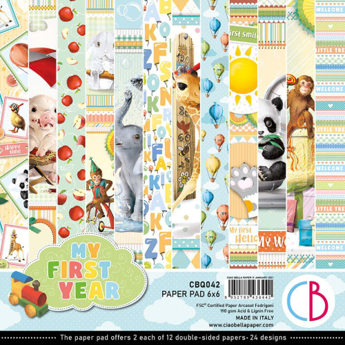 Ciao Bella Papercrafting 6x6 Paper Pad: My First Year