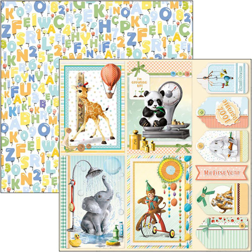Ciao Bella Papercrafting My First Year 12x12 Paper: Cards