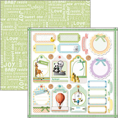 Ciao Bella Papercrafting My First Year 12x12 Paper: Height & Weight