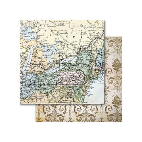 Memory Place Around the World 12x12 Paper: America