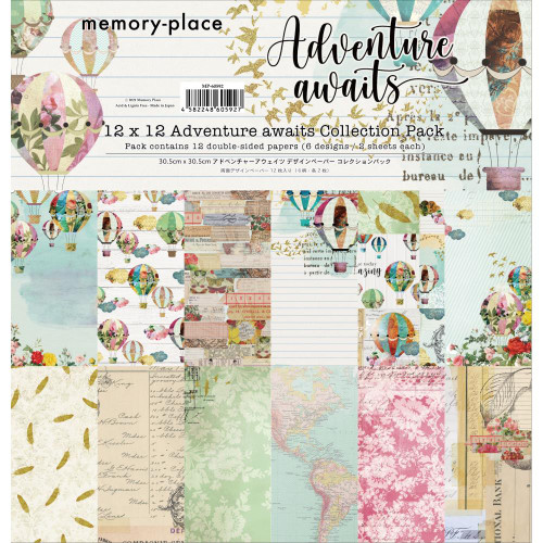 Memory Place 12x12 Paper Pack: Adventure Awaits