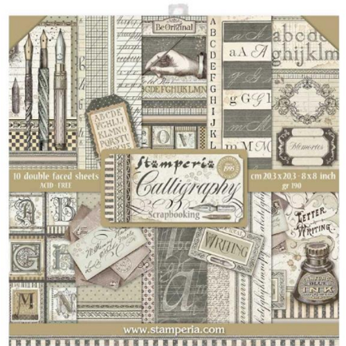 Stamperia 8x8 Paper Pack: Calligraphy