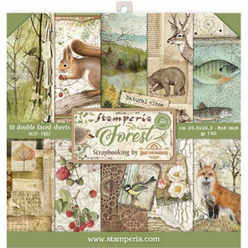 Stamperia 8x8 Paper Pack: Forest