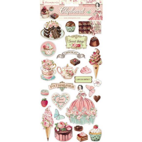 Stamperia Sweety Chipboard Accents