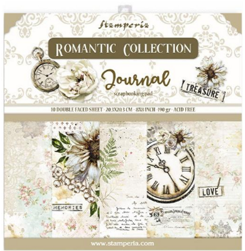 Stamperia 8x8 Paper Pack: Romantic Collection - Journal