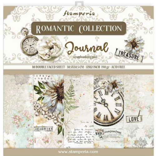 Stamperia 12x12 Paper Pack: Romantic Collection - Journal