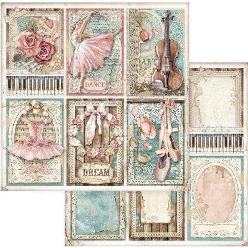 Stamperia Passion 12x12 Paper: #773