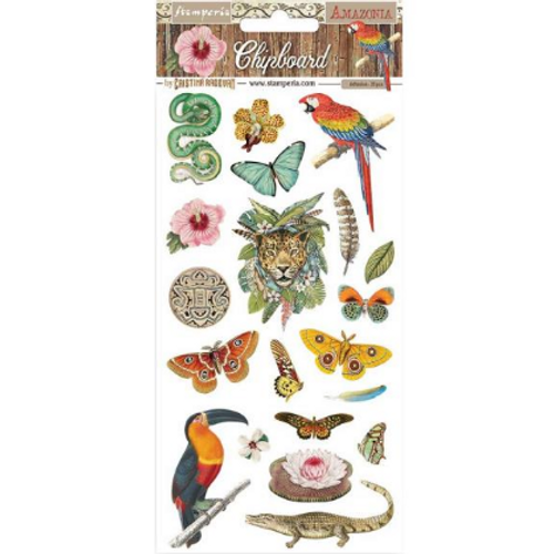 Stamperia Amazonia Chipboard Accents