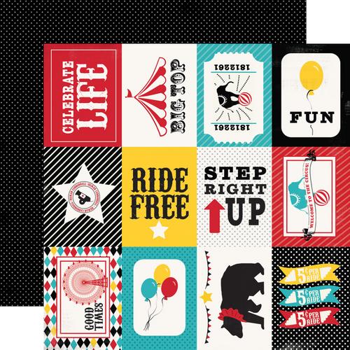 Carta Bella Circus Party 12x12 Paper: 3x4 Journaling Cards