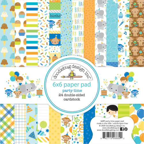 Doodlebug 6x6 Paper Pad: Party Time
