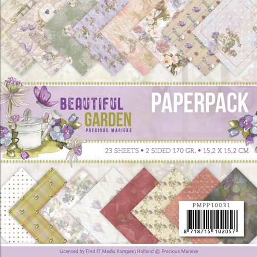 Find-It Media 6x6 Paper Pad: Beautiful Garden