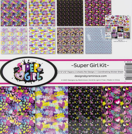 Reminisce 12x12 Collection Pack: Super Girl