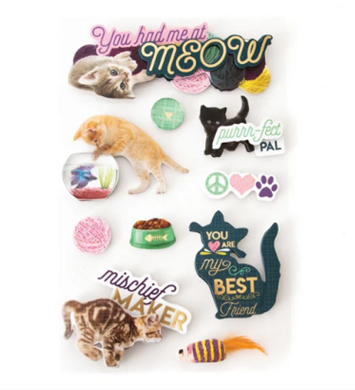 Paper House 3D Sticker: You Had Me at Meow