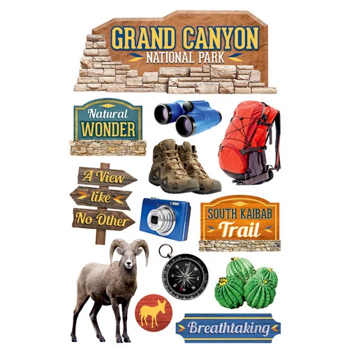 Paper House 3D Sticker: Grand Canyon