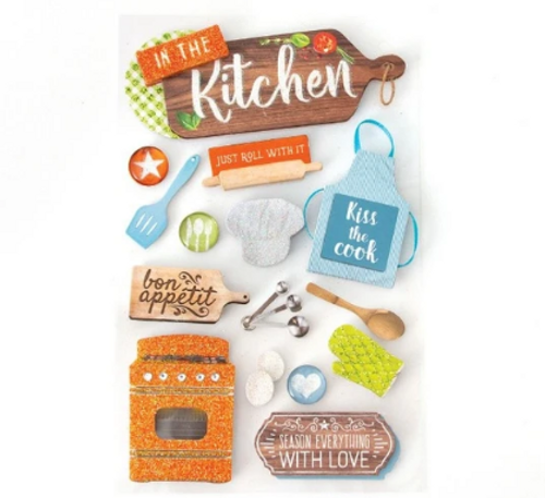 Paper House 3D Sticker: In the Kitchen