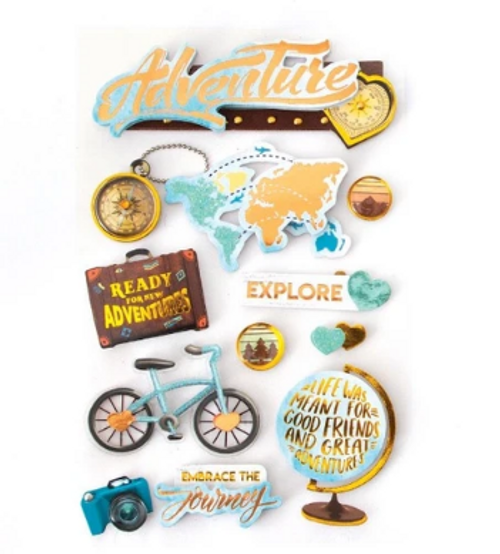 Paper House 3D Sticker: Adventure