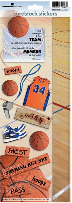 Paper House Cardstock Sticker: Basketball Quote