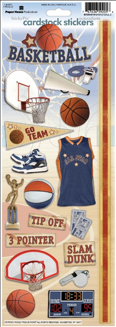 Paper House Cardstock Sticker: Basketball 2