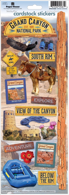 Paper House Cardstock Sticker: Grand Canyon