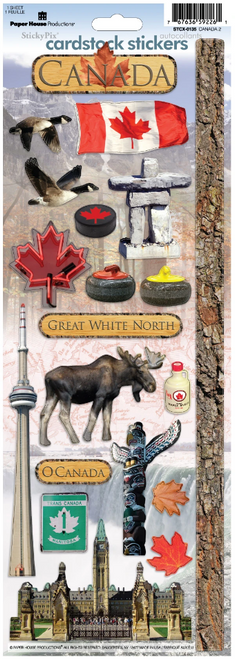 Paper House Cardstock Sticker: Canada 2