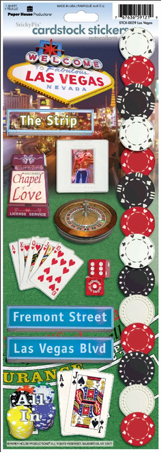 Paper House Cardstock Sticker: Las Vegas