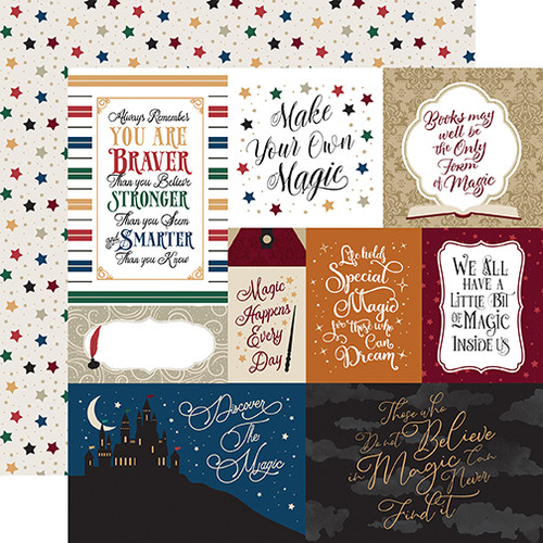 """Echo Park Witches & Wizards """"2"""" 12x12 Paper: Multi Journaling Cards"""