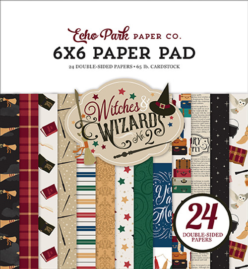 """Echo Park Witches & Wizards """"2"""" 6x6 Paper Pad"""