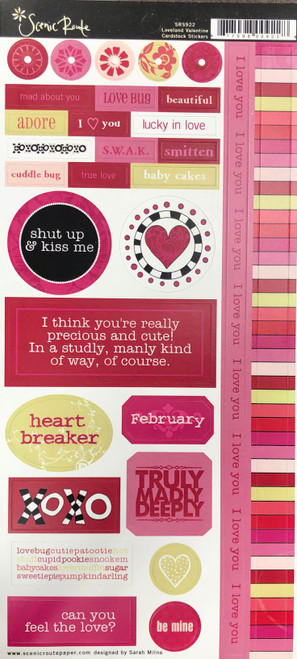 Scenic Route Loveland Collection 6x12 Sticker Sheet