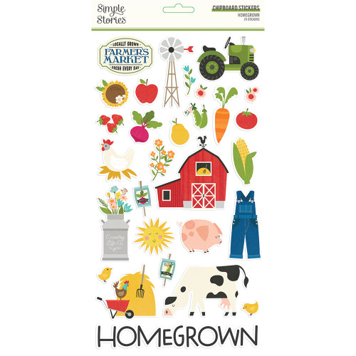 Simple Stories Homegrown 6x12 Chipboard