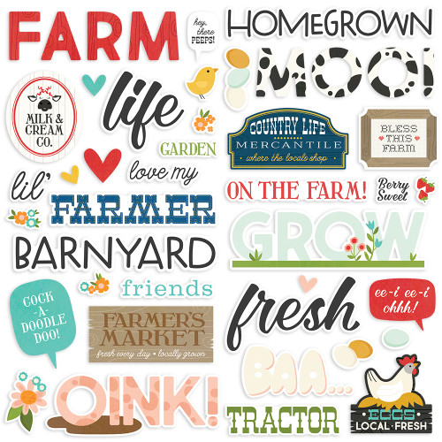 Simple Stories Homegrown Foam Stickers