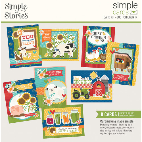 """Simple Stories """"Simple Cards"""" Card Kit: Just Chicken In"""