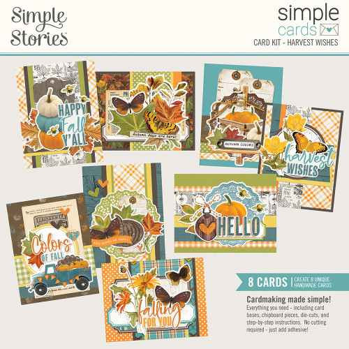 """Simple Stories """"Simple Cards"""" Card Kit: Harvest Wishes"""