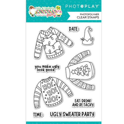 PhotoPlay Tulla & Norbert's Christmas Party 4x6 Stamp Set: Ugly Sweater
