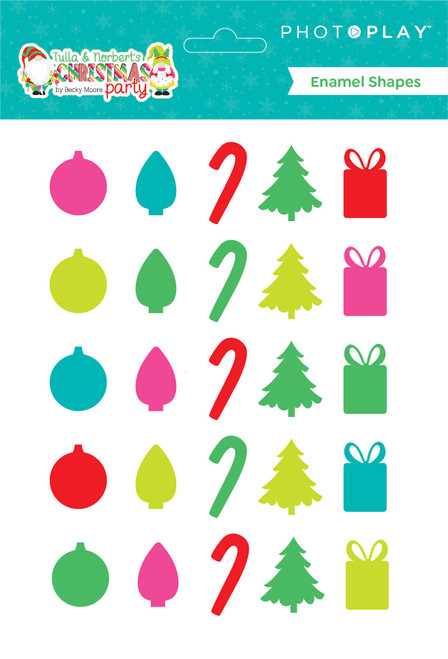 *PREORDER PhotoPlay Tulla & Norbert's Christmas Enamel Shapes (expected mid-July)