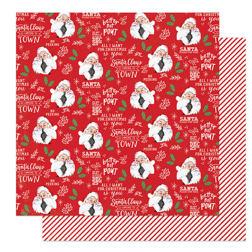 PhotoPlay The North Pole 12x12 Paper: Better Not Pout