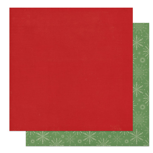 PhotoPlay The North Pole 12x12 Paper: Solids + Red/Green