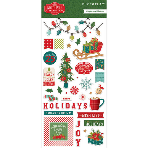 *PREORDER* PhotoPlay The North Pole Chipboard (expected mid-July)