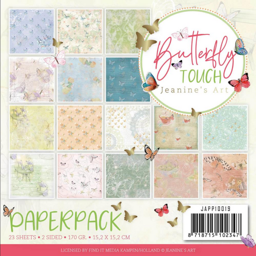 Find-It Media 6x6 Paper Pad: Butterfly Touch