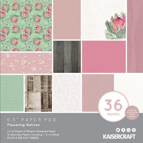 KaiserCraft Flowering Native 6.5x6.5 Paper Pad (w/diecuts)
