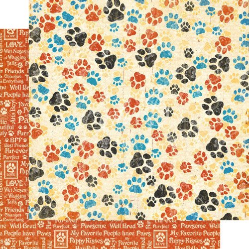 Graphic 45 Well Groomed 12x12 Paper: Pawsome!