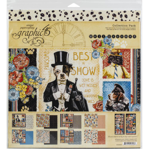 Graphic 45 Well Groomed 12x12 Collection Pack