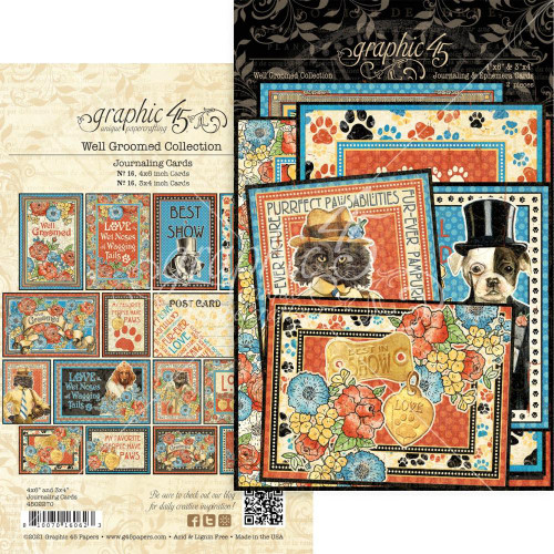 Graphic 45 Well Groomed Journaling Cards (4x6 and 3x4)