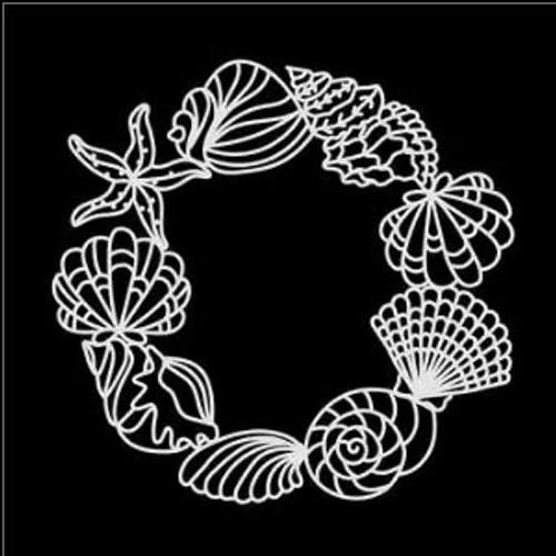 SG 12x12 Cardstock Diecuts: Seashell Wreath