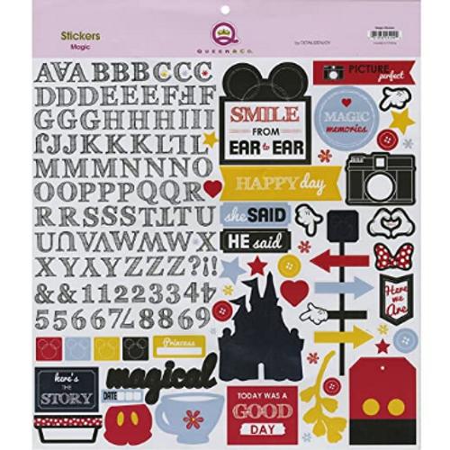 Queen & Co. Magic 12x12 Sticker Sheet