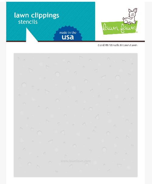 Lawn Fawn Lawn Clippings 6x6 Stencils: Confetti (2 per pack)